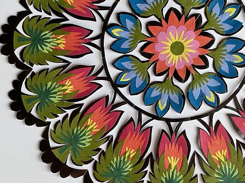 Floral pattern paper cut No.1