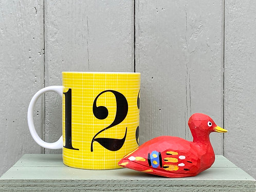 Red wooden duck