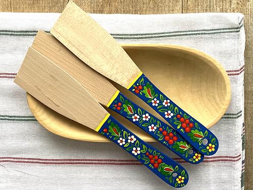 Tolka wooden painted spatula