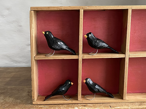 Wooden black birds