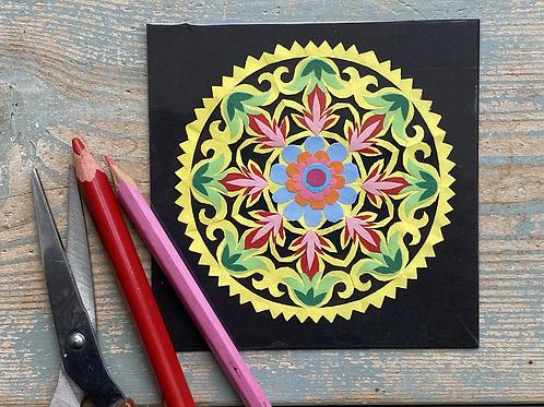 Mini paper cut pattern No.2