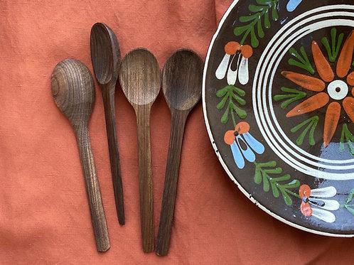 Walnut wood teaspoon