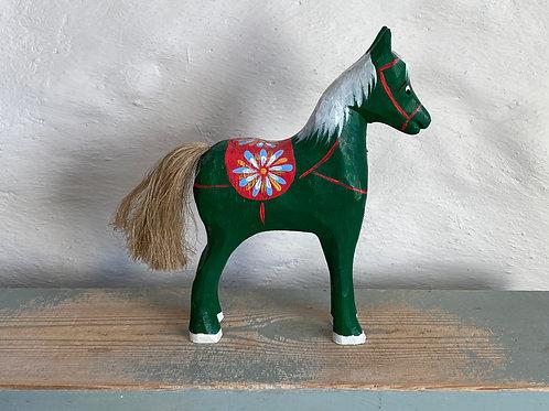 Dark green wooden horse