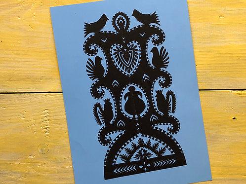 Black handmade paper-cut picture No.2