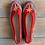 Thumbnail: Danuta grey/red slippers size 40