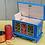 Thumbnail: Blue folk art wooden box No.1