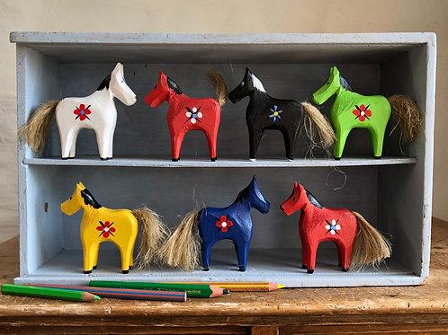 Mini handpainted wooden horses