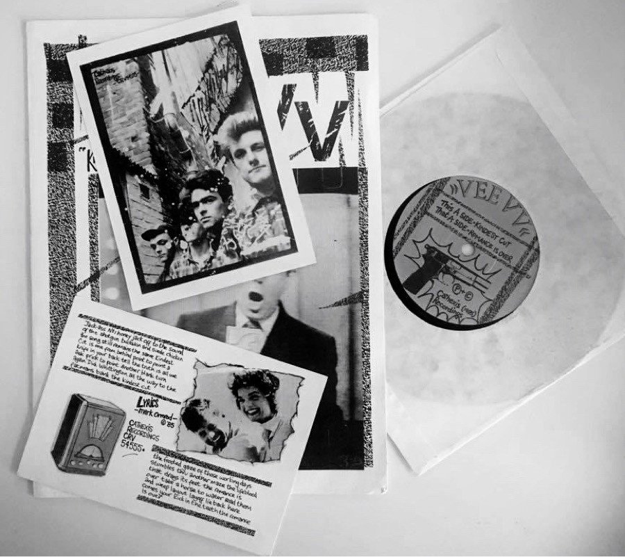 "Vee VV 7"" single 'The Kindest Cut' on Cathexis Recordings."