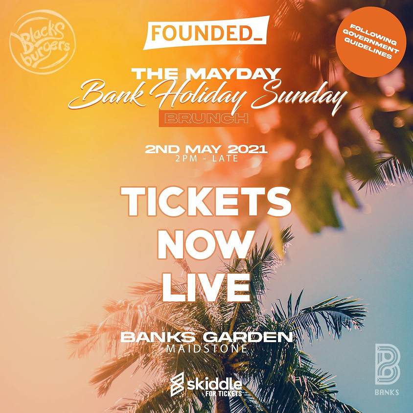FOUNDED_ presents: the mayday bank holiday brunch on sunday 2nd may 2021