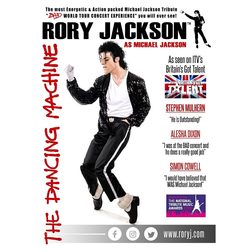 "Banks presents- ""The Dancing Machine"" Rory Jackson as Michael Jackson"
