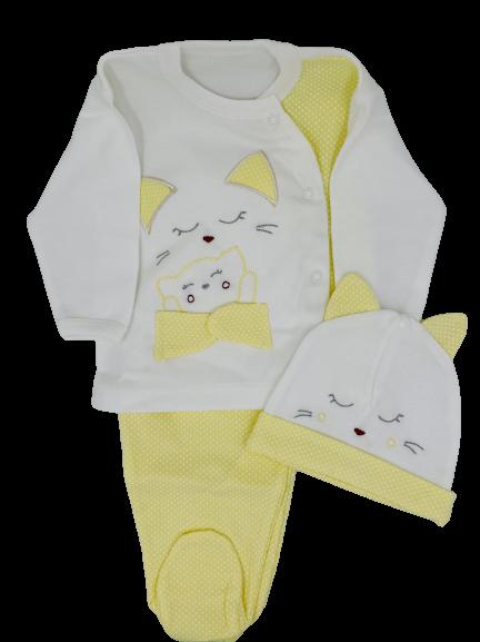 Yellow Meow- 10pcs Newborn Set