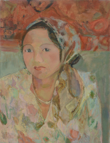 Girl with a Coloured Scarf
