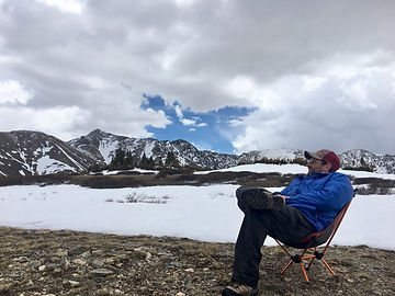 Relaxing at the glacier