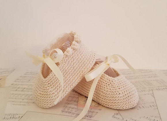 Charlotte Anne Booties - Soft Oatmeal