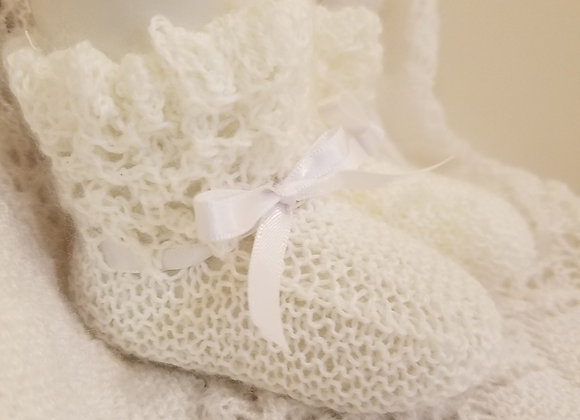 Lace Top Bootie - Winter White/Acrylic