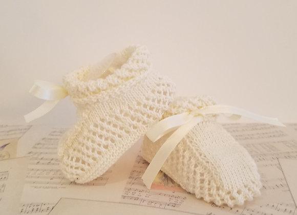 Sylvie - Cream Knit Bootie