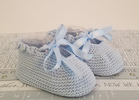 Charlotte Anne Booties - Pale Blue