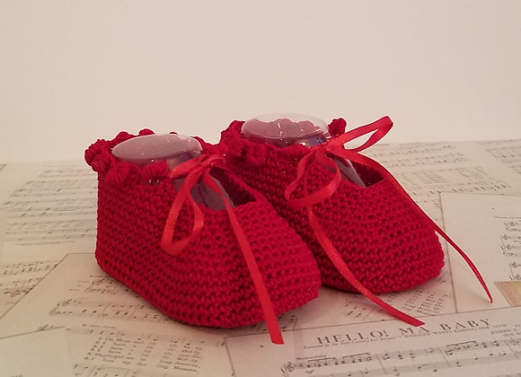 Charlotte Anne Booties - Red