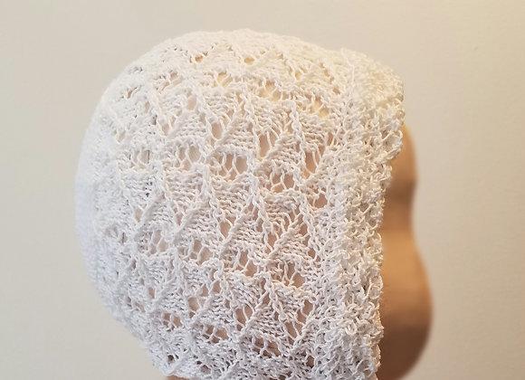 Rosa - Plain knit back - White/Lg-XL
