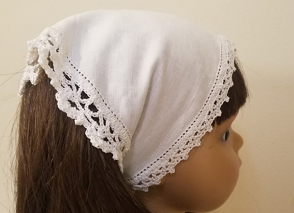 Crocheted Edge Scarf - White/Sm