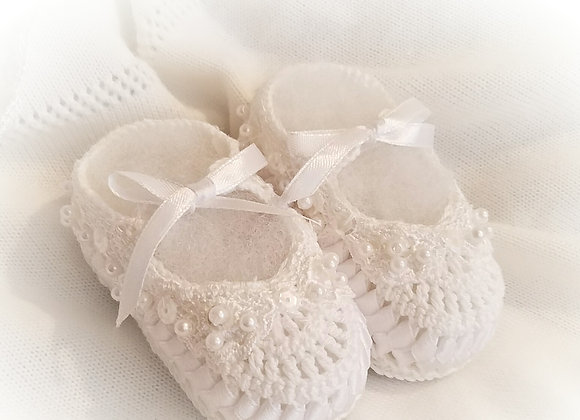 Pearl Ribbon Bootie