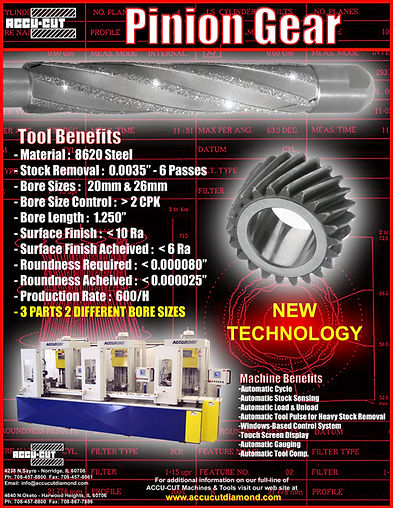 accu-cut diamond pinion gear rod brochure