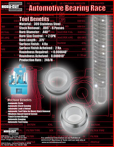 accu-cut diamond automotive bearing race brochure