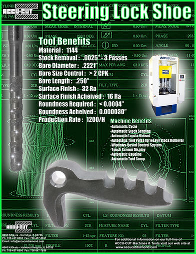 accu-cut diamond steering lock shoe brochure