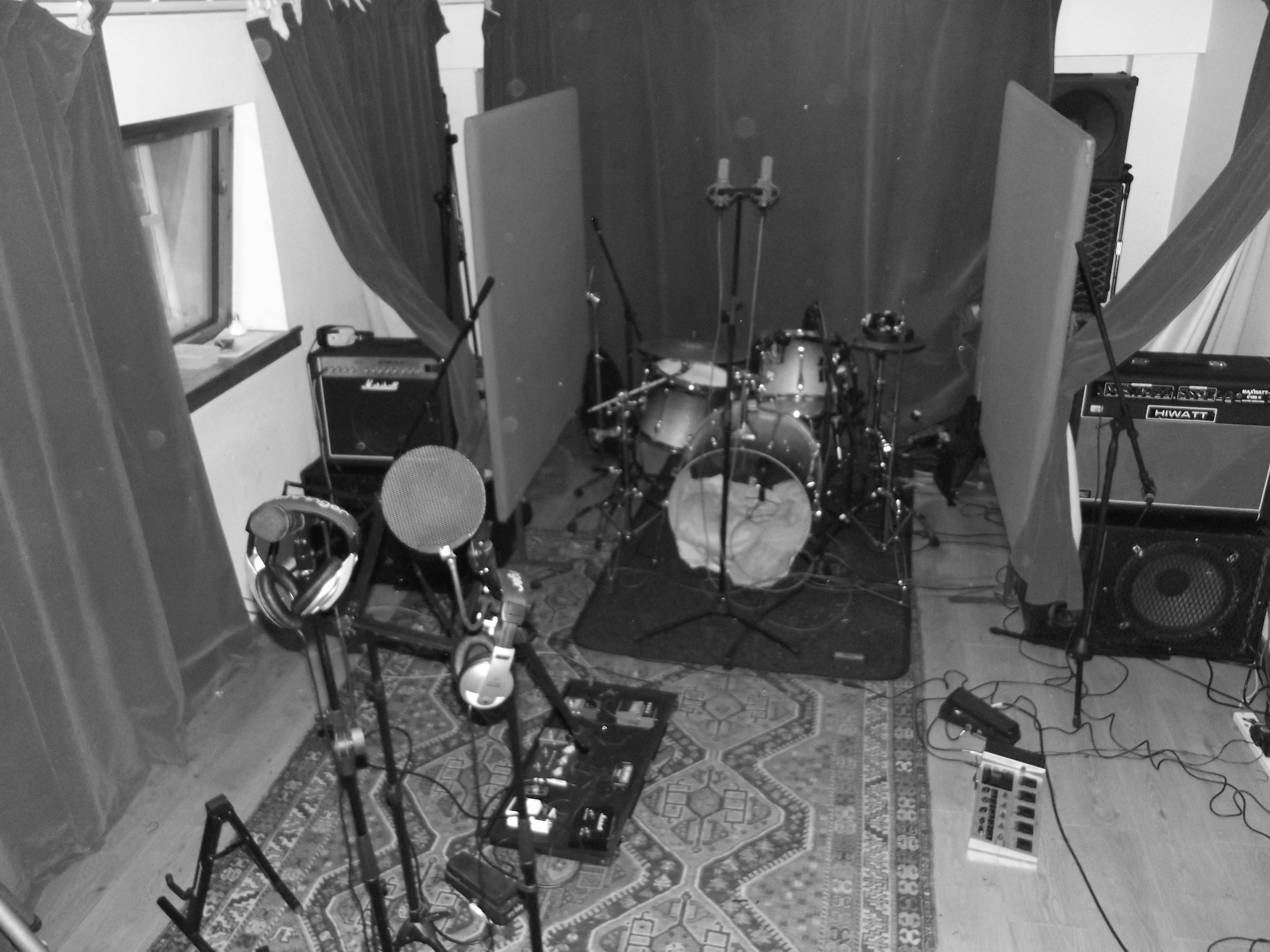 Full band set up bloo coo studio