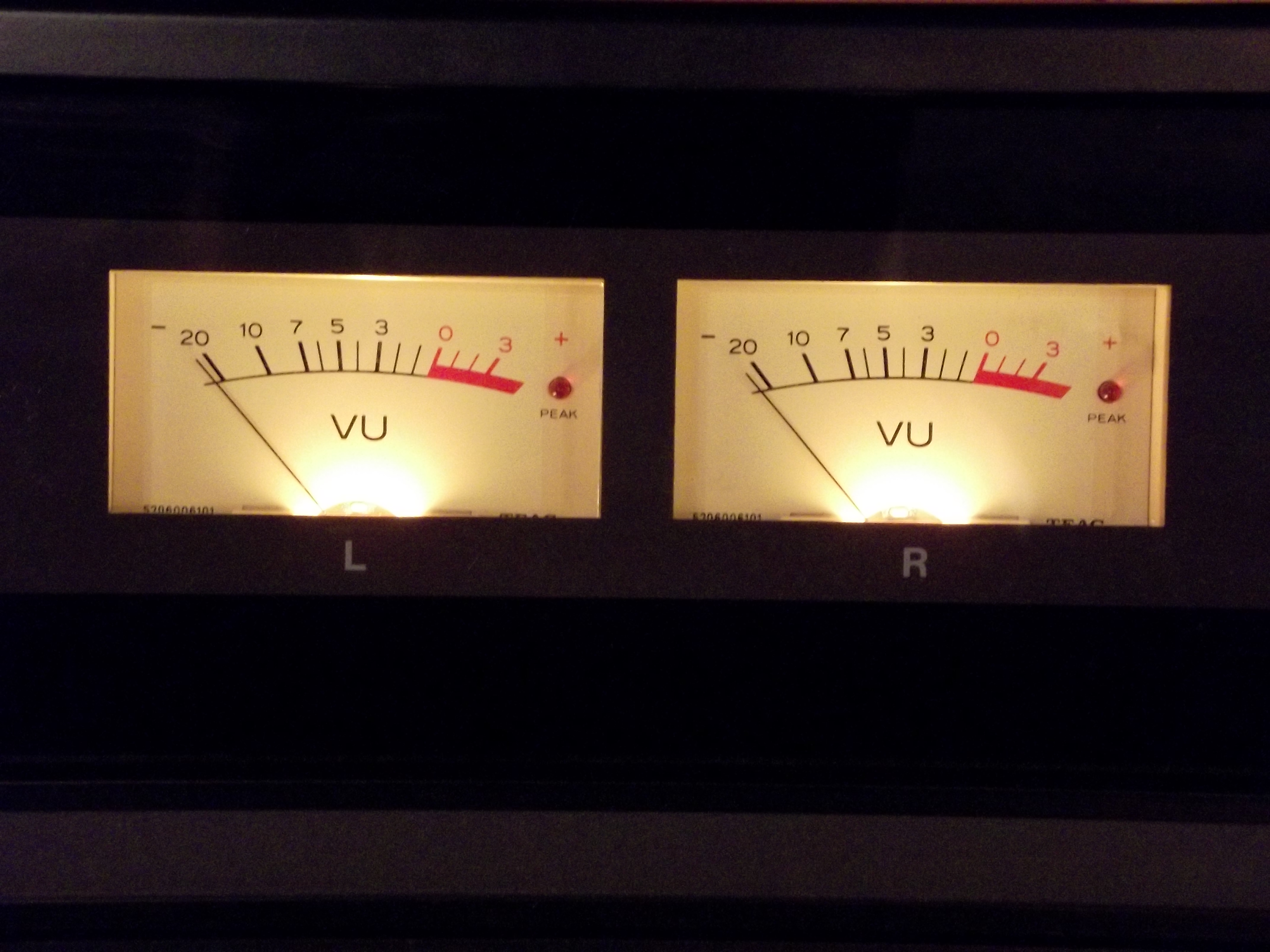 Analogue VU meters