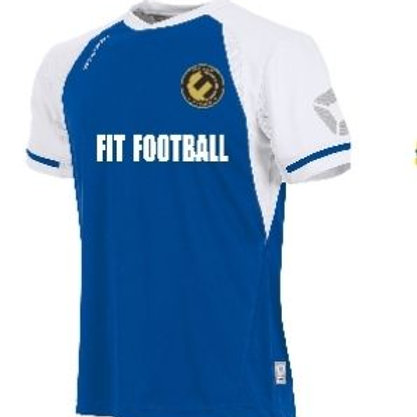 Fit football kit (royal blue/whites sleeves)