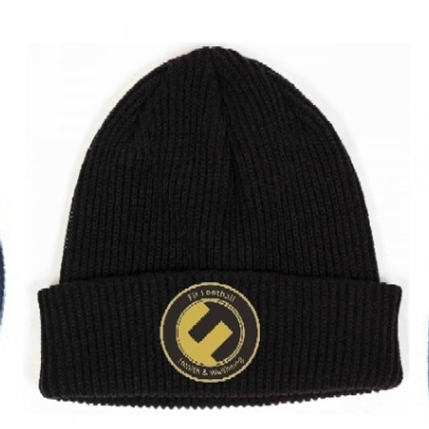 Fit football knitted hat (Black)