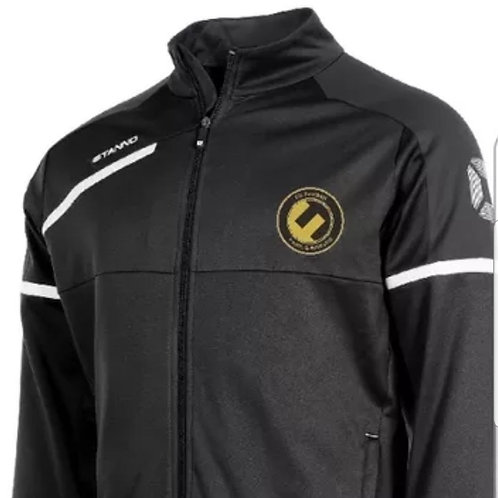 Fit Football Black Tracksuit Top
