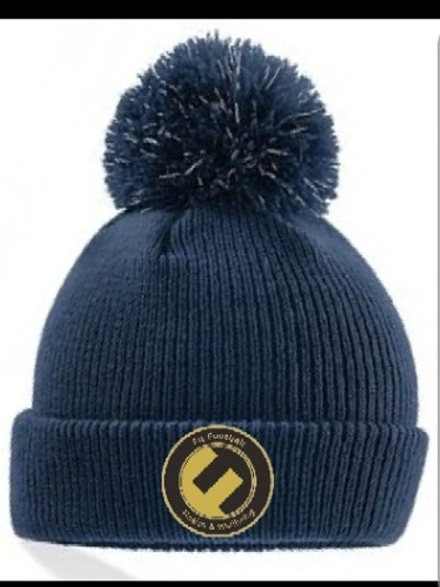 Fit football bobble hat. (Navy blue)