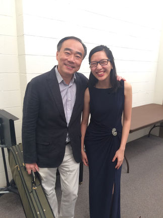 Photo with Cho-Liang Lin after my recital