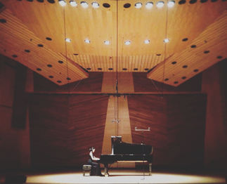 Performance in Harris Concert Hall, Aspen