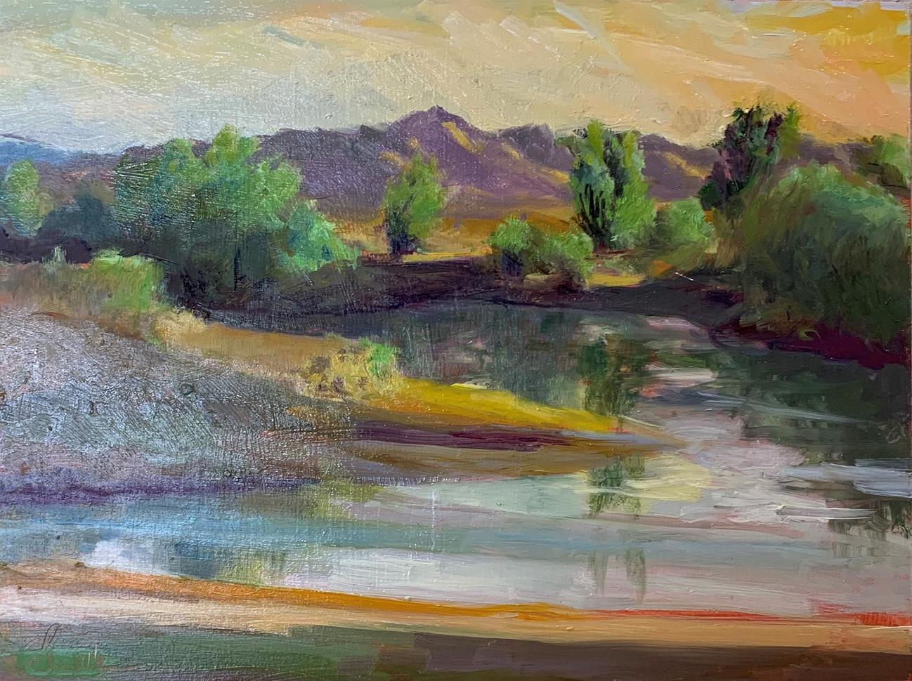 """Chella Gonsalves (Modesto) Mt. Oso, 2019 Oil on panel en plein air 12"""" x 9"""" $600"""