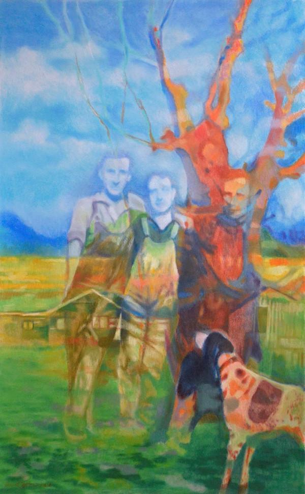 "Vivian Varni Patton (Groveland), Grandpa Varni's Ranch, 2020 Pastel on gessoed board, 48"" x 30"" $1,120"