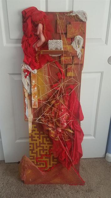 Betty Marie Carroll (Modesto) Inner, 2018 Wood, acrylic/gouache paint, ceramic, fabric, glass, plastic, metal, rubber $250