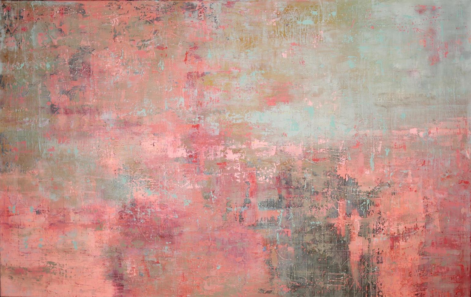 "Heidi Kinzie (Modesto), Redolent, 2019 Oil on canvas with a cold wax veil, 66"" x 42"" $4,500"