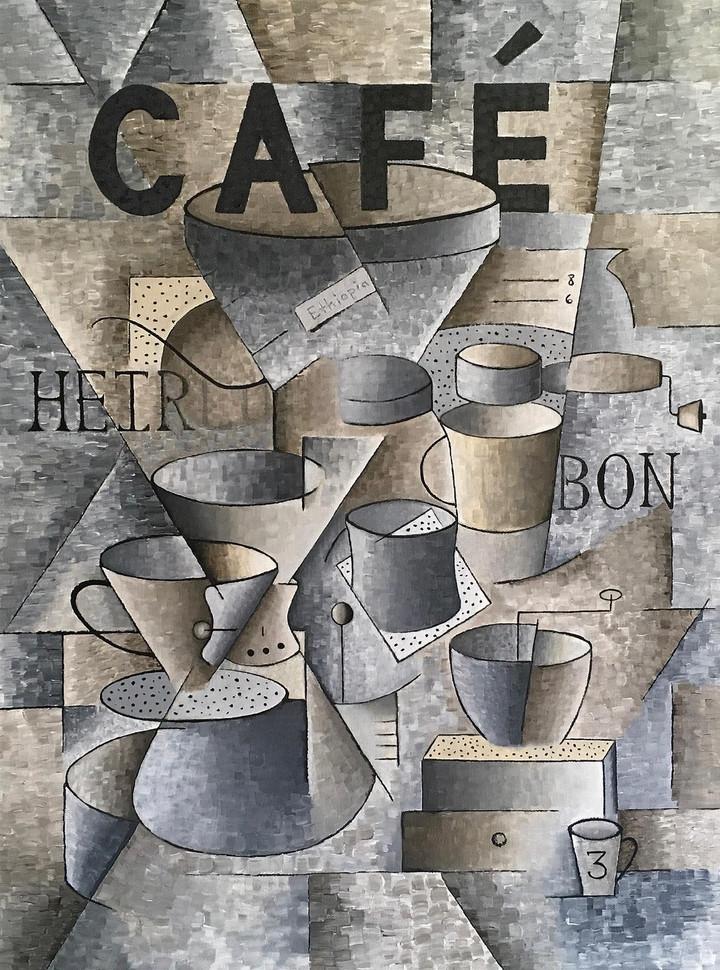 """Thomas Duarte (Newman) Cafe, 2020 Acrylic on canvas 18"""" x 24"""" NFS"""