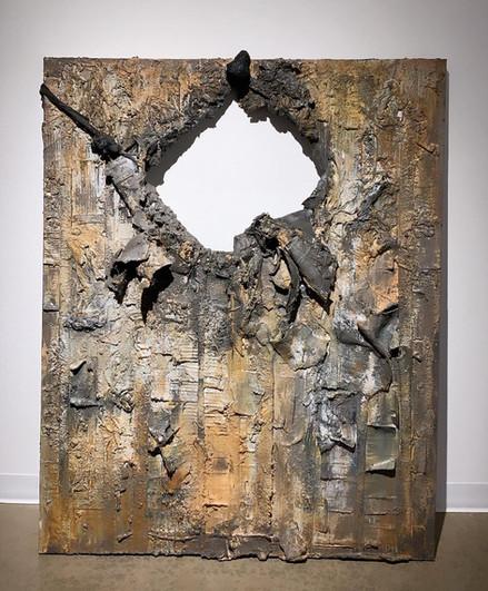 "Brenda Barron (Delhi), The Hole, 2019 Acrylic Paint, 60"" x 48"" x 3"" NFS"