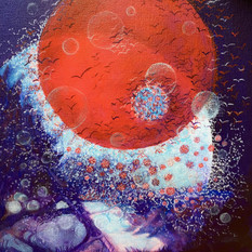 "Anne Bailey (Turlock) Community Spread 1 Honorable Mention acrylic on canvas, 12"" x 12"" $300"