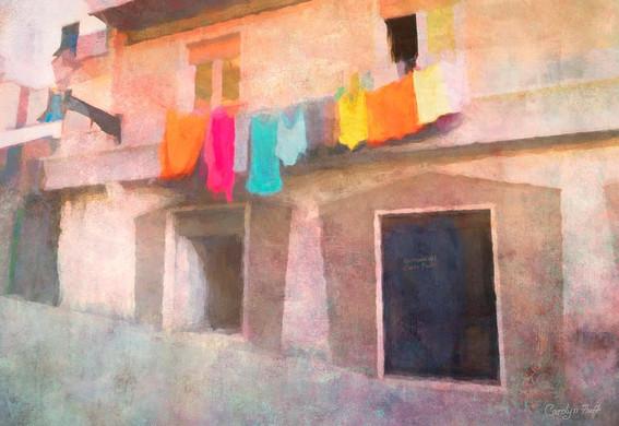 """Carolyn Huff (Modesto) Clean Heart Day (Giornata del Cuore Polito), 2019 Mixed media on watercolor 19"""" x 13"""" $1,500"""
