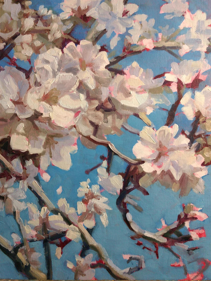 "Tamara Keiper (Waterford), Bursting Blossoms, 2020 Oil painting, 14"" x 11"" $1,900"