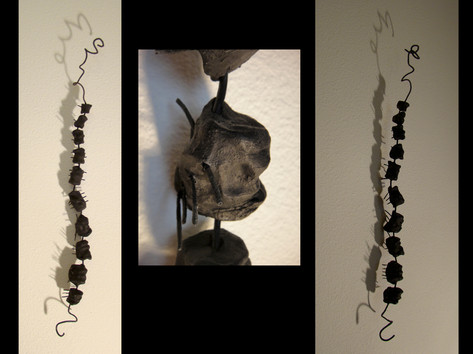 Spinal Twist raku-fired clay, wire NFS