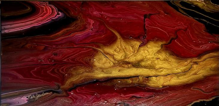 Galactic Sunrise fluid acrylic $500