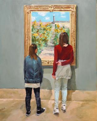 "Sibyl Johnson (Carmel) Blooming, 2018 Oil on canvas 16"" x 20"" $1,800"