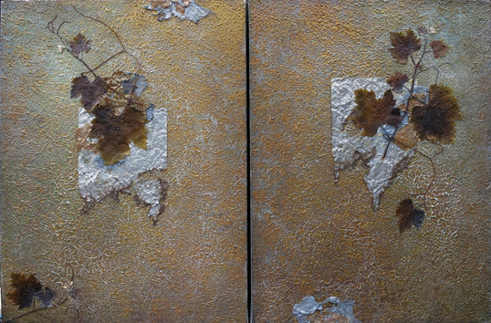 Preserve (diptych) mixed media on canvas NFS