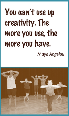 You cant use up creativity. The more you use, the more you have. Maya Angelou
